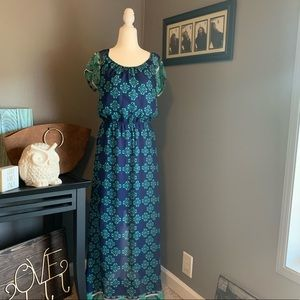 Miami Cinch Waist Maxi Dress Size M